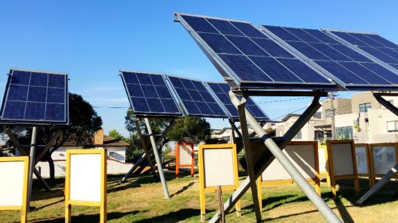 Solar panels array, Ceres Environmental Park, Brunswick East, Melbourne, Australia