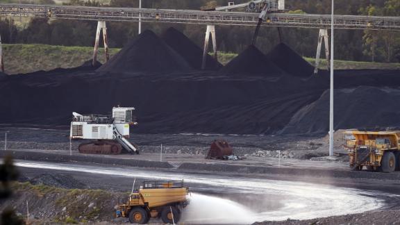 A coal mine in Bulga, the Hunter Valley north of Sydney  on November 18, 2015.