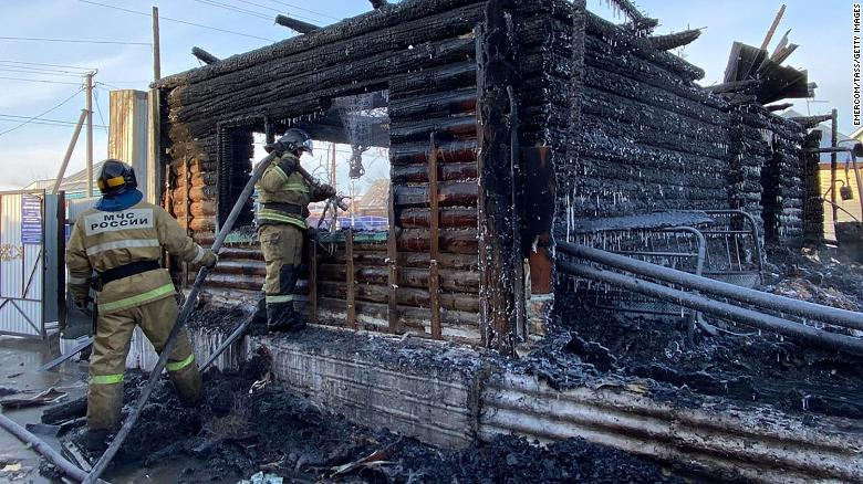 Fire at Russian care home kills 11 elderly residents with mobility issues
