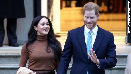 Prince Harry and Meghan depart Canada House on January 7 in London, England.