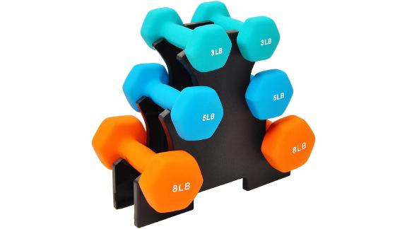 BalanceFrom Neoprene-Coated Dumbbell Set