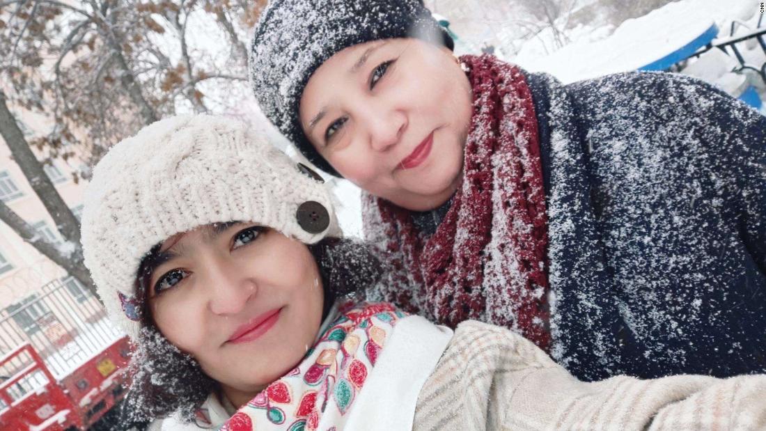 Mayila Yakufu with her aunt.