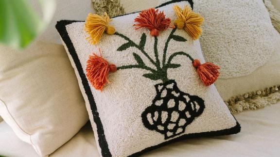 Jungalow Primavera Hook Pillow by Justina Blakeney