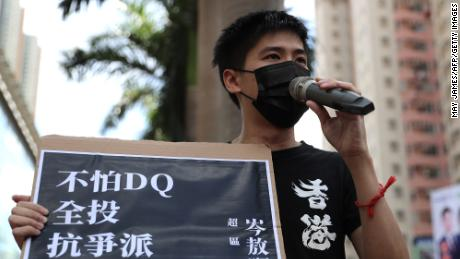 Activist Lester Shum gave up his US passport to stand for election in Hong Kong, but was later disqualified from running.