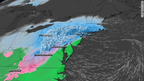 Snow falls in the northeast.  Here is where the heaviest totals can be collected