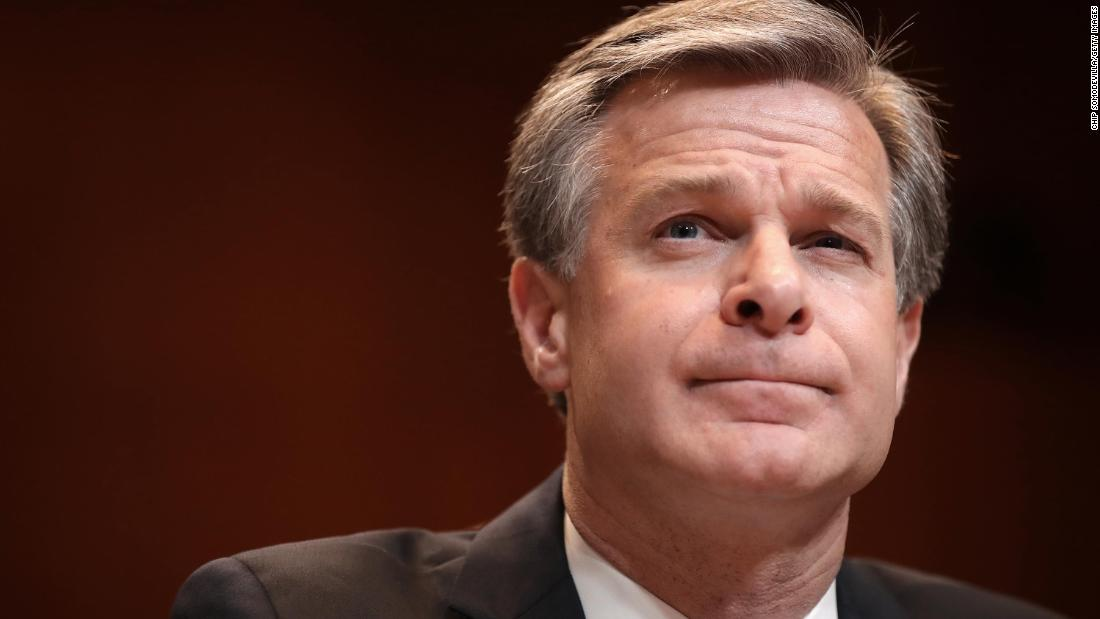 FBI director knocks down conspiracy theory that Capitol rioters were 'fake Trump protesters'