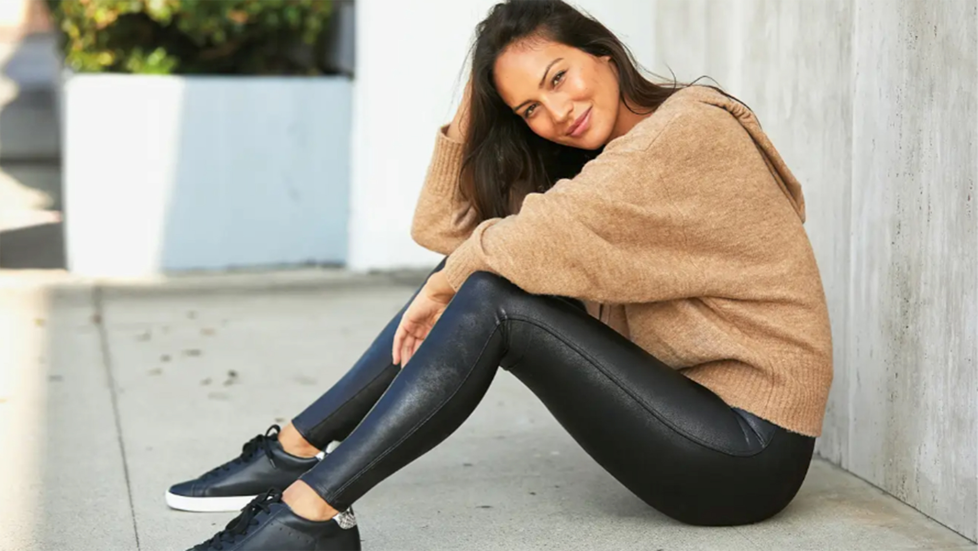 Spanx faux leather leggings review   CNN Underscored