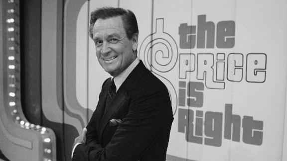 """Barker on the set of """"The Price Is Right"""" in 1985."""