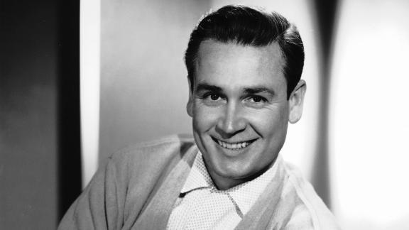 """Barker, seen here in 1959, started his broadcasting career in radio. In 1956, he began hosting the television game show """"Truth or Consequences."""""""