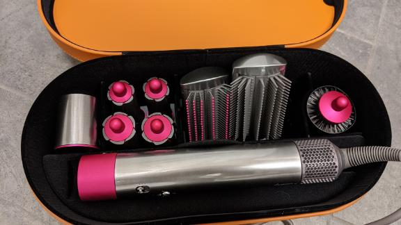 The Dyson Airwrap in its case