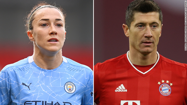 Robert Lewandowski and Lucy Bronze named players of the year at the Best FIFA Football Awards