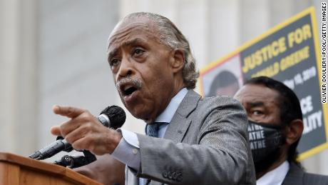 Rev. Al Sharpton speaks during the March on Washington at the Lincoln Memorial  in August.