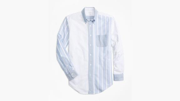 Brooks Brothers Regent Fit Oxford Fun Stripe Sport Shirt