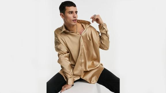 Asos Design Oversized Satin Shirt