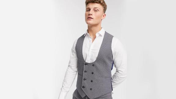 Asos Design Wedding Super Skinny Suit Vest