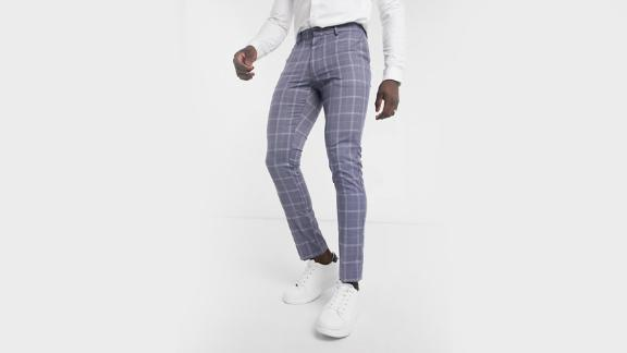 New Look Skinny Plaid Suit Pant