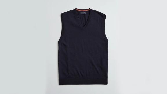 Brooks Brothers Washable Merino Wool V-Neck Vest
