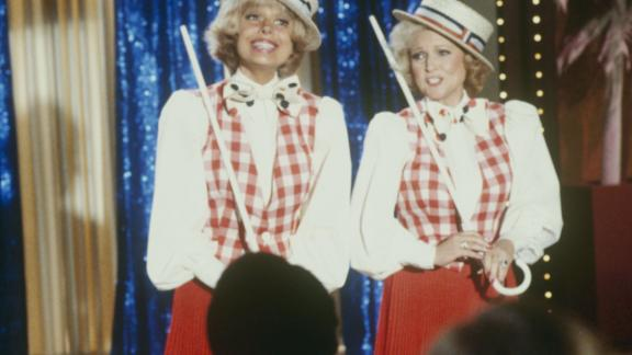 "White made several guest appearances on ""The Love Boat,"" including this one in 1982 with Broadway star Carol Channing."