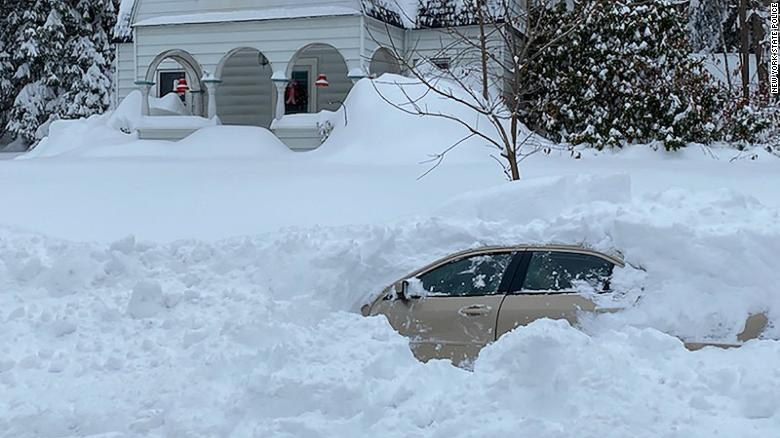 Upstate New York driver gets stuck in car for 10 hours after snow plow covers him with nearly 4 feet of snow