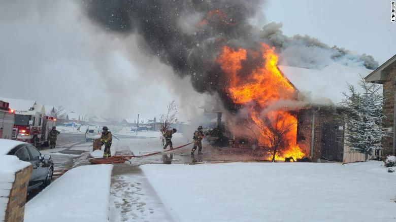 A nurse's home burned down while she was caring for a critical Covid-19 patient