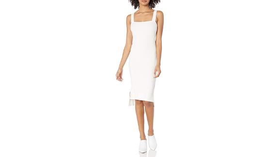 The Drop Amelia Square Neck Bodycon Midi Dress