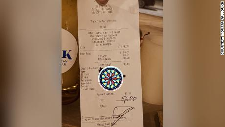 A customer left the employees of Souk Mediterranean Kitchen a $5,600 tip.