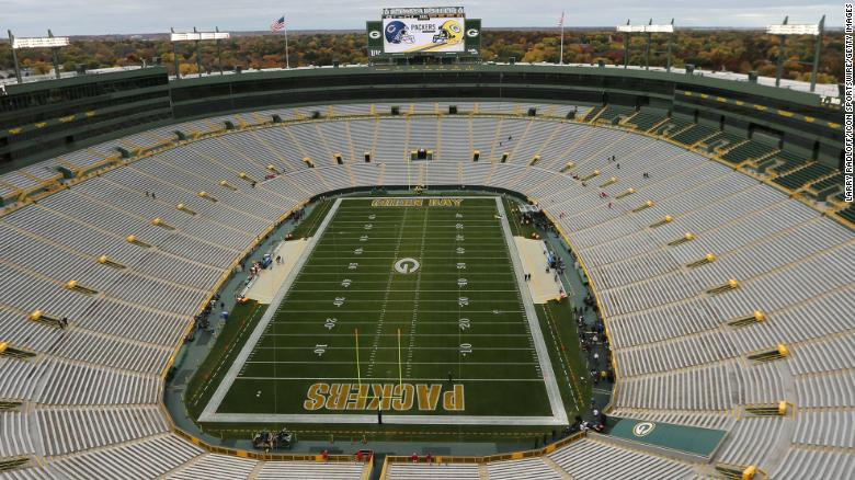 The Green Bay Packers are hosting 250 front line workers for their game against the Panthers