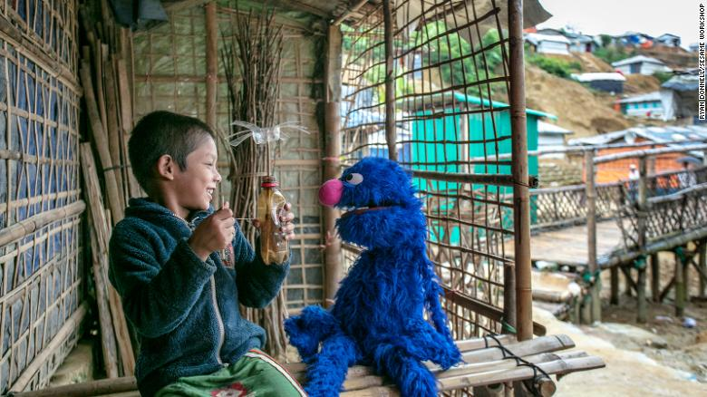 Sesame Workshop debuts its first ever Rohingya Muppets for refugee children
