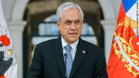 Piñera was fined after a selfie emerged showing him not wearing a mask, as required by Chile's strict rules.