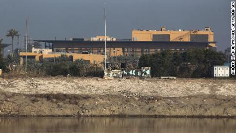 The US embassy across the Tigris river in Iraq's capital Baghdad. File photo from January 2020.