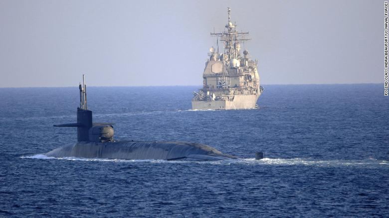 US Navy sails nuclear submarine through Strait of Hormuz