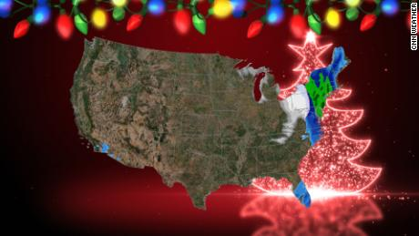It might snow on Christmas in some of the least probable locations
