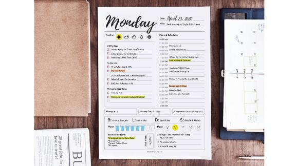 Dot Dot Trace Printable 7-Day Daily Planner