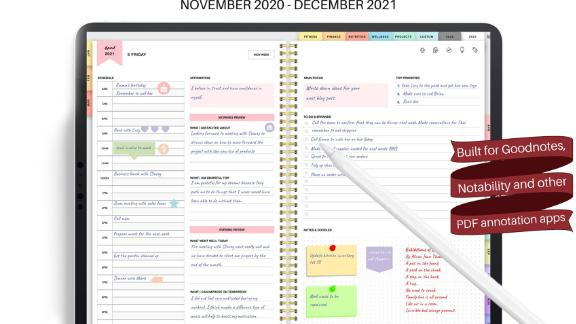 Amethyst Garnet GoodNotes Digital 2021 Planner