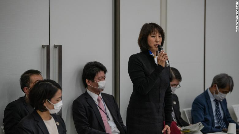 Mikako Kotani, Direktur Olahraga Olimpiade Tokyo 2020, berbicara pada sesi pidato pembukaan Rapat Dewan Eksekutif Olimpiade Tokyo2020 pada 22 Desember 2020 di Tokyo, Jepang.
