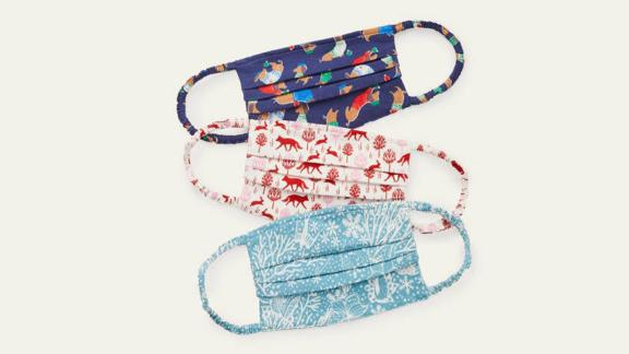Boden Nonmedical Face Coverings in Festive Prints, 3-Pack