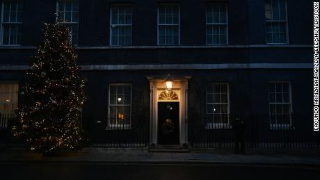 The front door of 10 Downing Street, home and workplace to the British Prime Minister.
