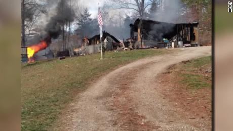 The fire destroyed the Davidson home.