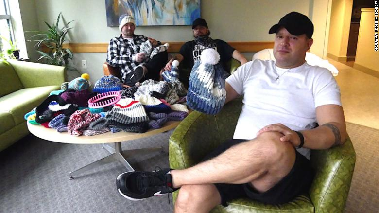 A man started a knitting group to help people like himself recover from drug addiction