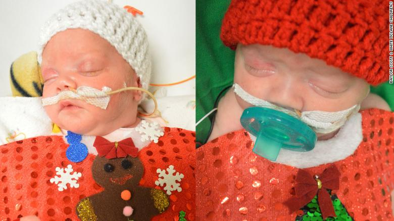 Texas hospital spreads joy in the NICU by dressing newborns in Christmas sweaters