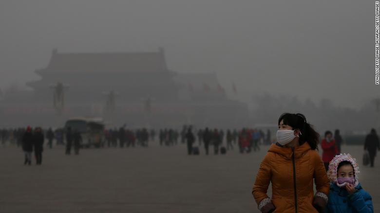 Beijing, China's capital, is often shrouded in heavy smog in the winter.