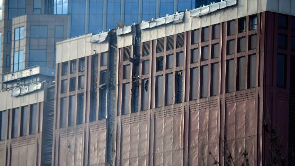 Damage to buildings can be seen following the explosion reported in the area of Second and Commerce on Friday, Dec. 25, 2020 in Nashville, Tenn.Edit Aaa8168
