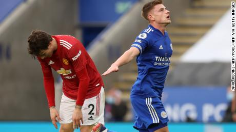 Harvey Barnes quickly equalized Rashford's opener for Manchester United with a fine individual effort from outside the penalty area.