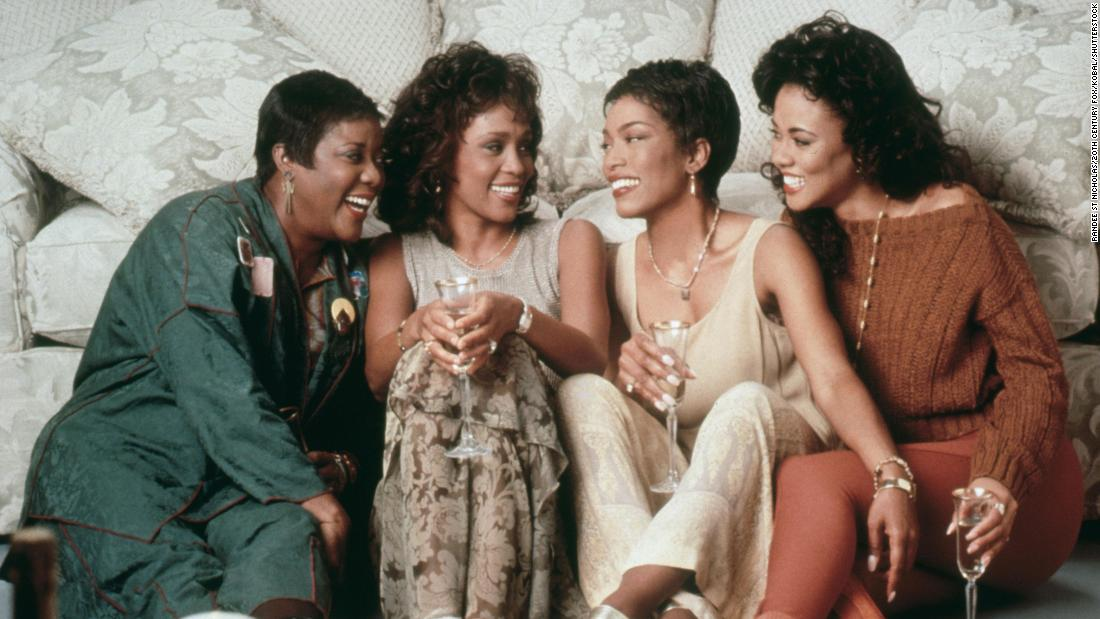 "The 1995 film ""Waiting to Exhale"" features (from left) Loretta Devine, Whitney Houston, Angela Bassett and Lela Rochon as four friends who support each other as they navigate fraught love lives with men."