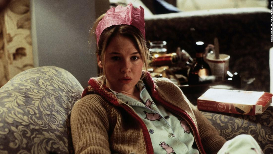 "Renee Zellweger plays the title character looking for Mr. Right in romantic comedy ""Bridget Jones's Diary"" from 2001."