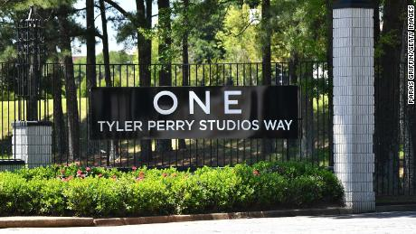 A view of Tyler Perry Studios in Atlanta