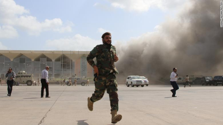 At least 22 killed in attack on Yemen's Aden airport after new government arrives