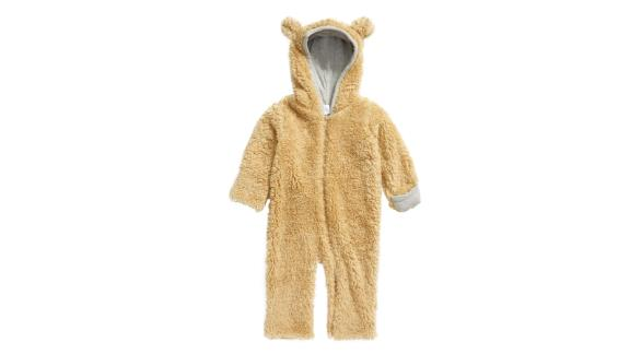 Nordstrom Cozy Plush Fleece Bear Romper