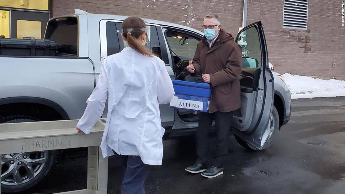 Doctor drives three hours to get Covid-19 vaccine to rural Michigan hospital – CNN