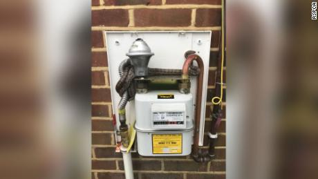 A gas worker got a slithery surprise when attempting to read the meter.